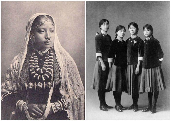 Подростки начала XX века из разных стран мира