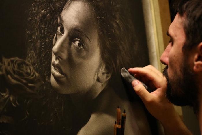 Гиперреалистичные картины карандашом в стиле мастеров Ренессанса