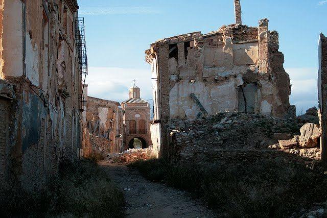 Belchite - город призрак в Испании
