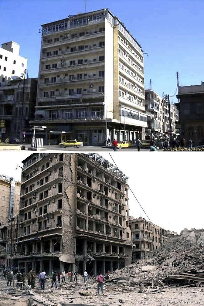 Крупнейший город Сирии Алеппо до войны и сейчас