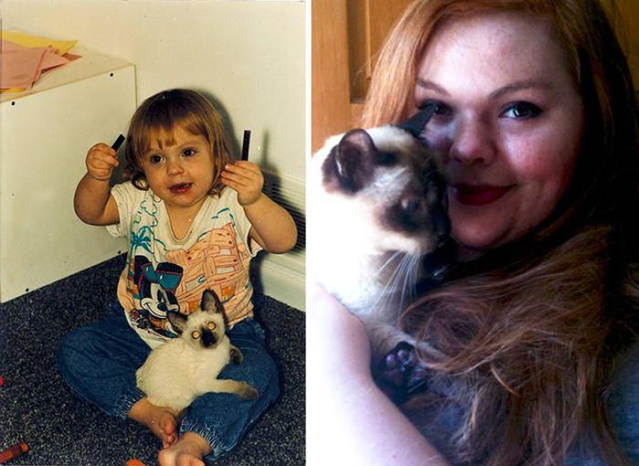 Первые и последние снимки хозяев и их домашних животных