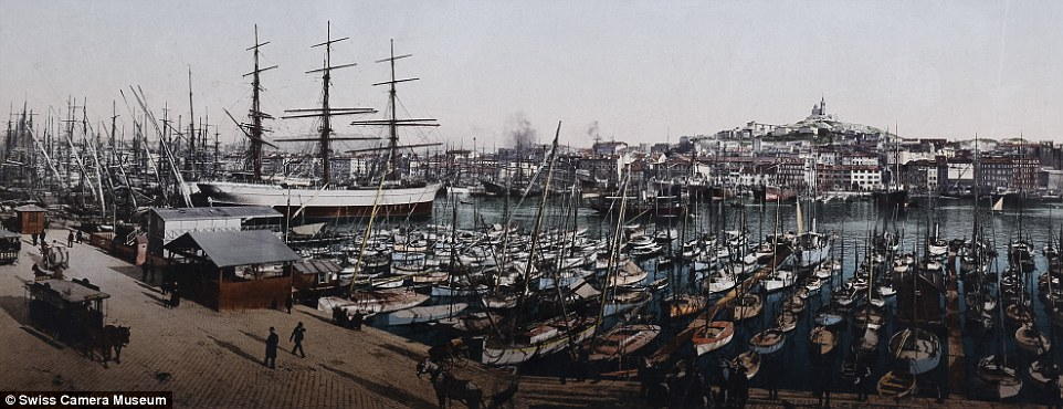 Цветные фотографии главных туристических мест конца XIX века