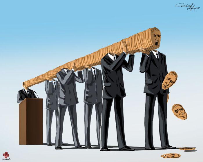Проблемы современного мира в иллюстрациях Гюндуза Агаева