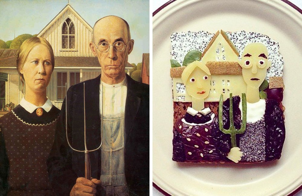 Известные картины в бутербродах от Иды Скивенес