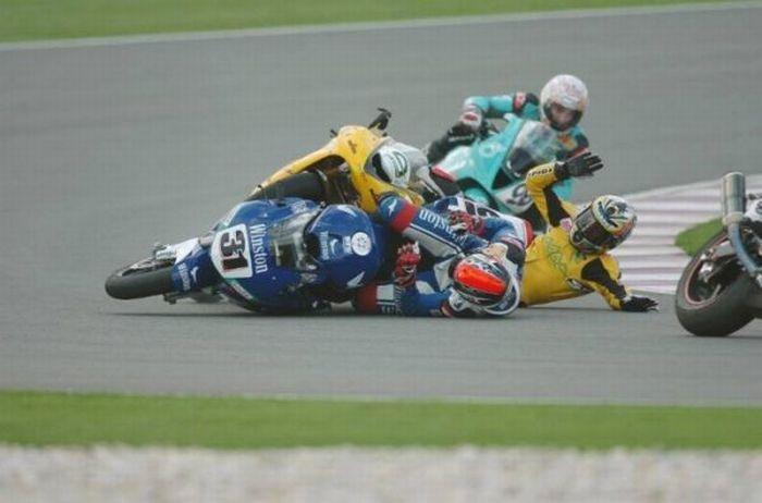 Падения с мотоциклов
