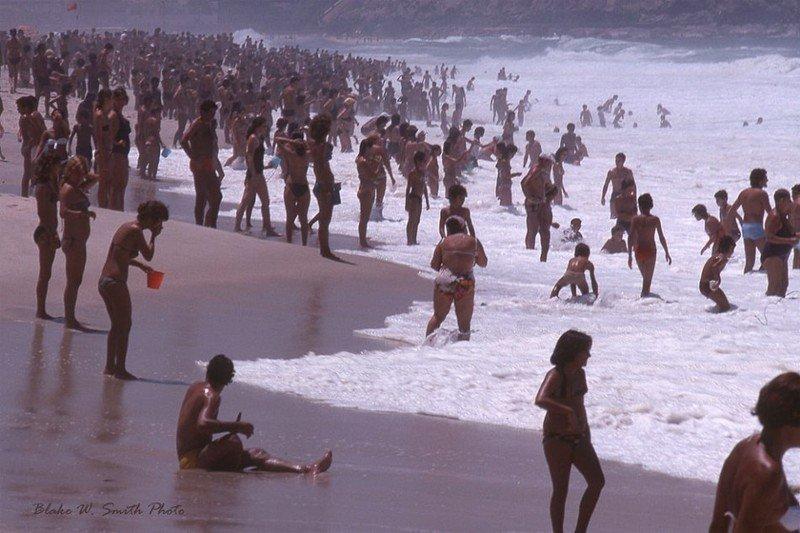 Повседневная жизнь бразильских пляжей в конце 1970-х годов
