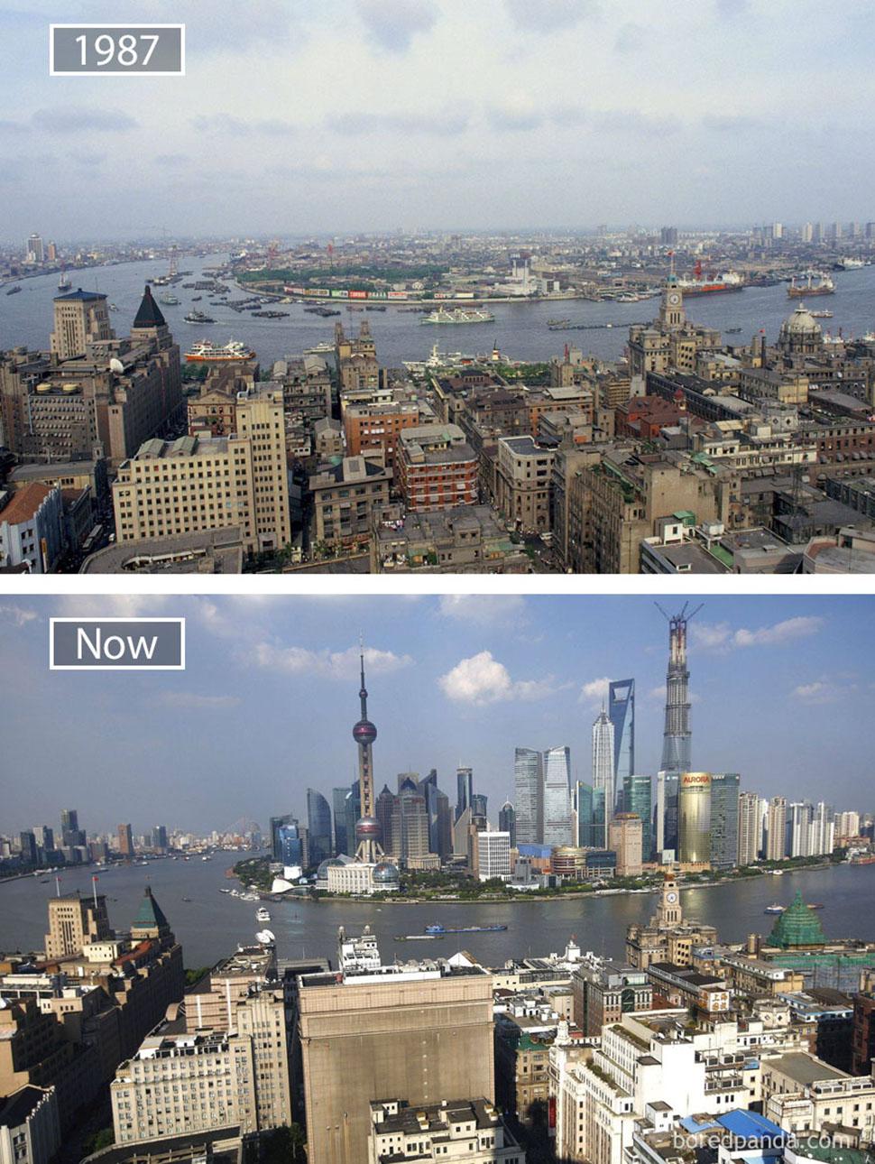 Знаменитые города с одного ракурса тогда и сейчас
