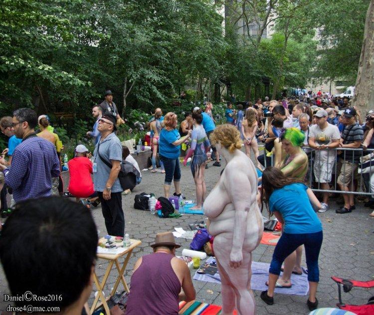 День бодиарта в Нью-Йорке