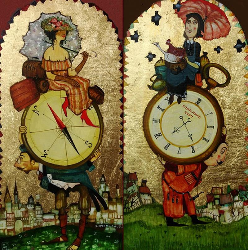 Картины с грузинскими мотивами от художника Отара Имерлишвили