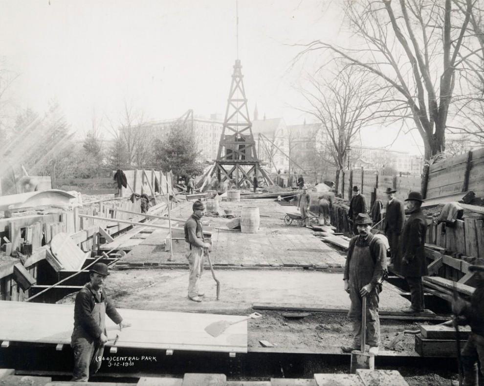 Архивные фотографии строительства Нью-Йорка начала 20-го столетия