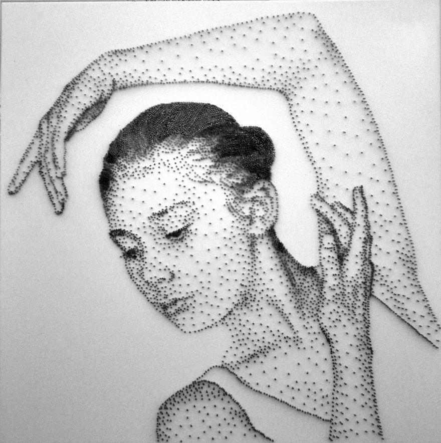 Потрясающие скульптуры из сотен тысяч гвоздей от Маркуса Левайна