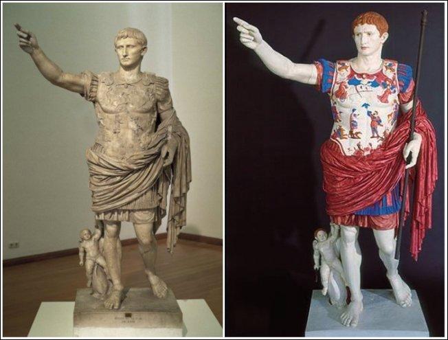 Античные скульптуры выглядели немного иначе