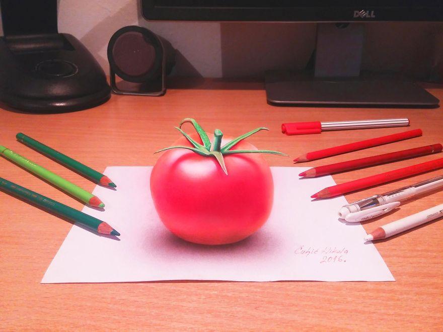 Гиперреалистичные 3D-рисунки от Николы Чульича