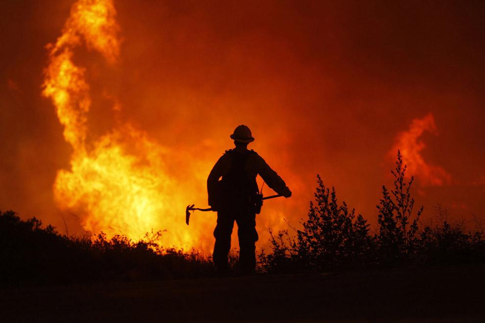 Ужасные лесные пожары в Калифорнии