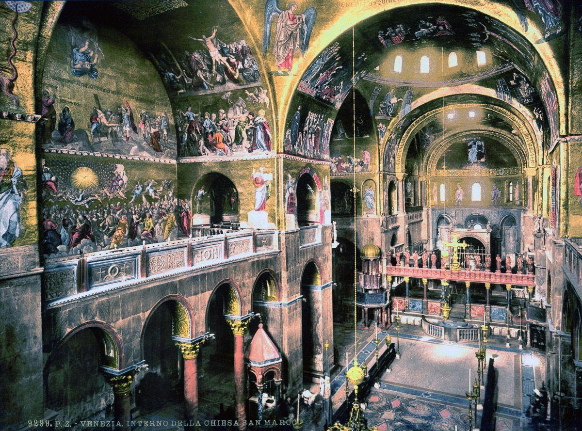 Венеция на цветных открытках 1890 года