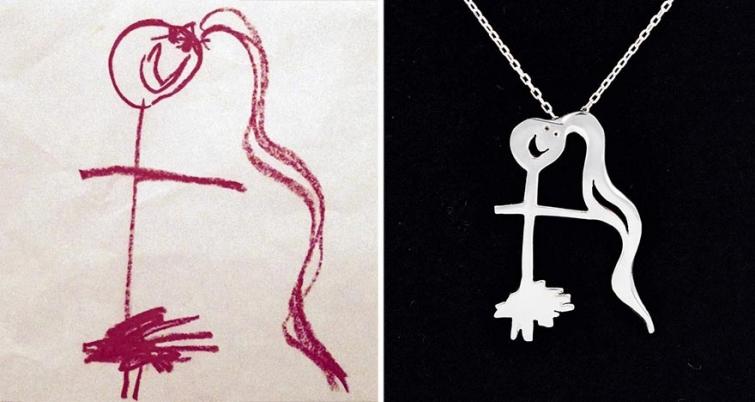 Художники превращают детские каракули в ювелирные изделия