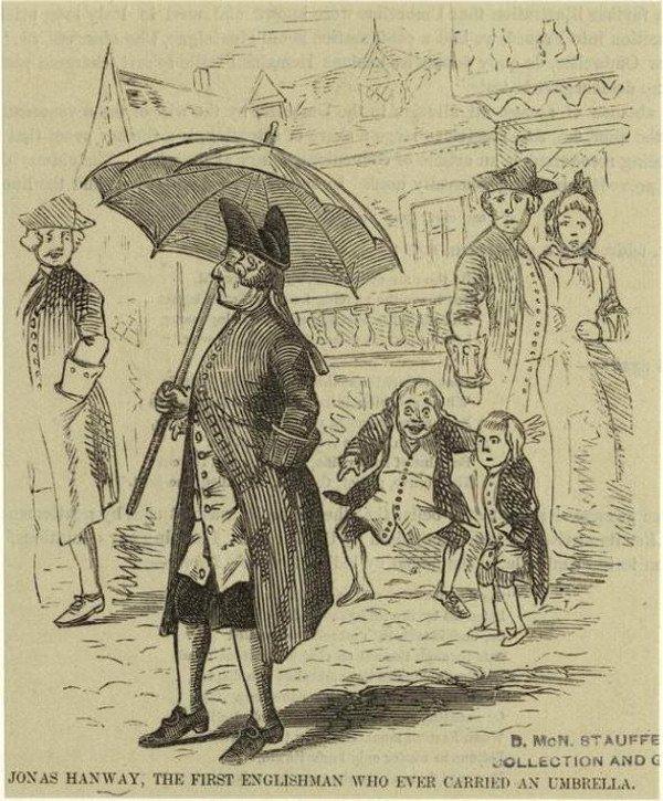 Когда общественное мнение не одобряло зонтики