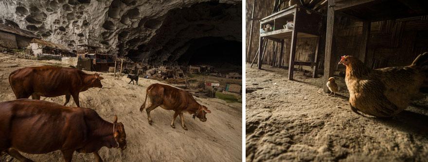 Гигантская пещера в Китае, в которой поместилась целая деревня на 100 человек
