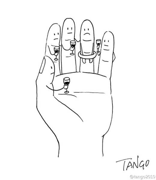Необычные комиксы от иллюстратора Шанхай Танго