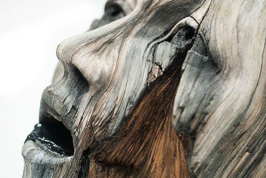 Деревянные скульптуры из керамики от Кристофера Дэвида Уайта