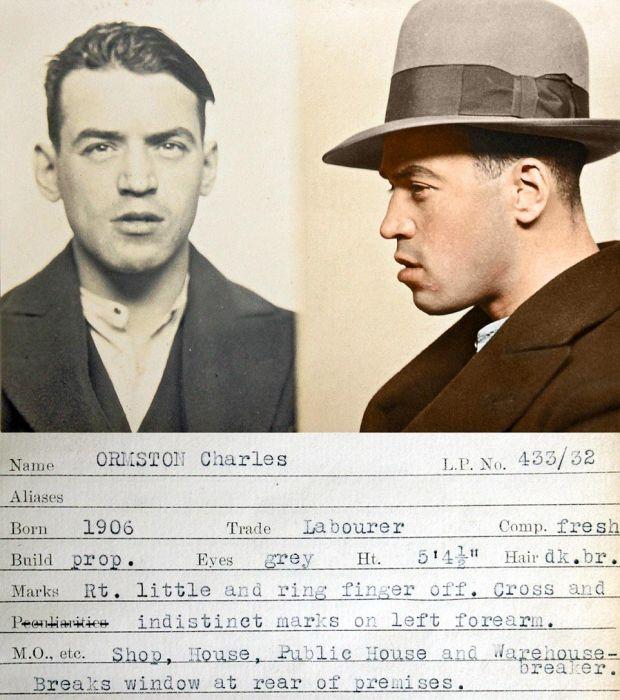 Цветные снимки британских преступников 1930-х годов