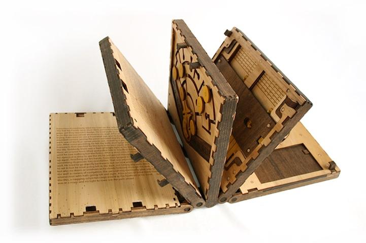 Деревянная книга-головоломка, которая не оставит равнодушными интеллектуалов