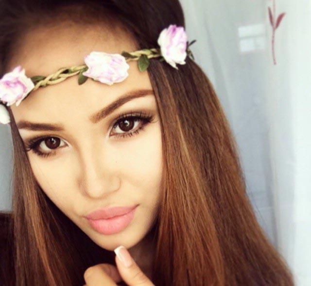 Красивые казахские девушки из соцсетей
