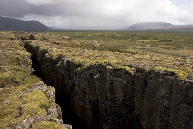 Место расхождения тектонических плит