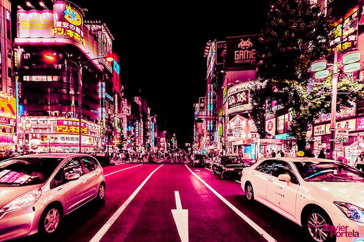 Энергетика ночного Токио от фотографа Хавьера Портелы
