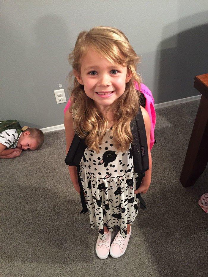 До и после похода в школу: первый день учёбы