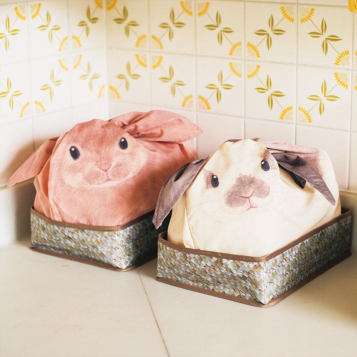 Японские сумки в виде кроликов для важных домашних мелочей