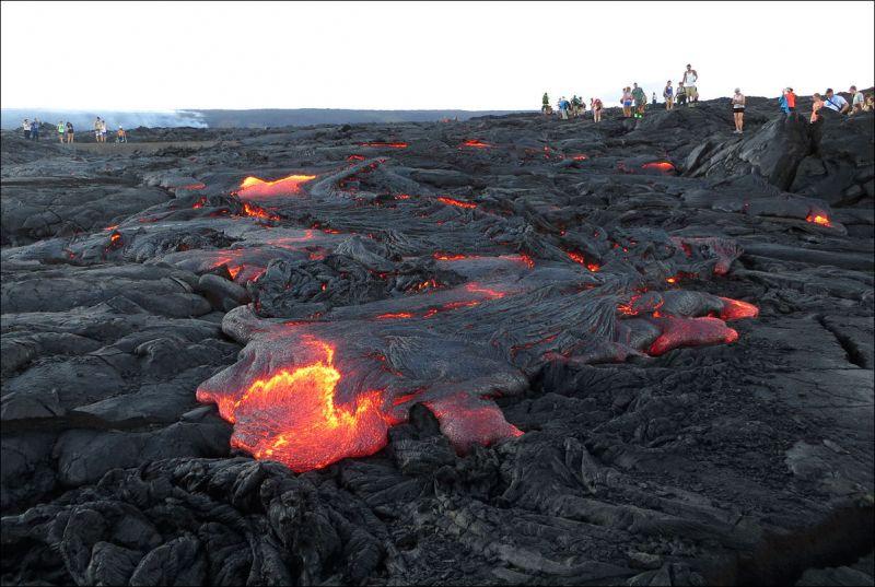 Действующий вулкан Килауэа