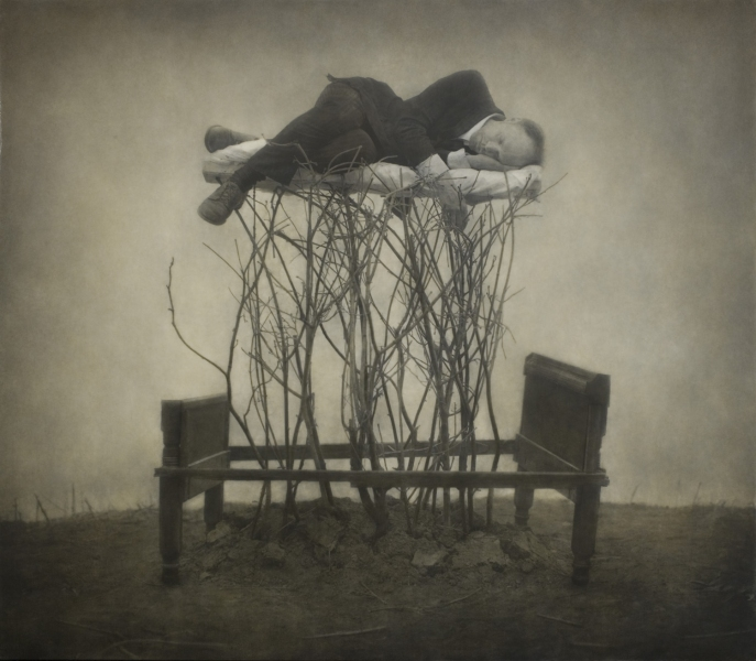Сюрреалистические фотоработы о взаимоотношениях человека, природы и технологий