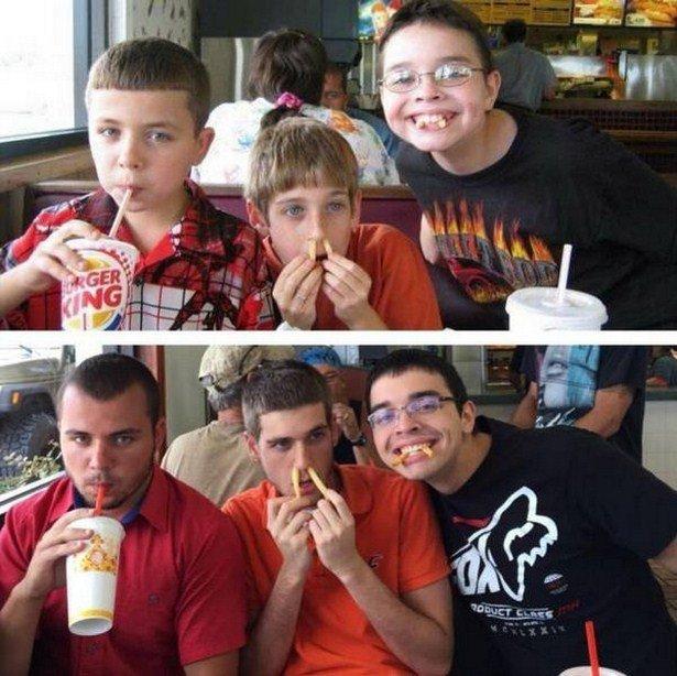 Фотографии в детстве и сейчас