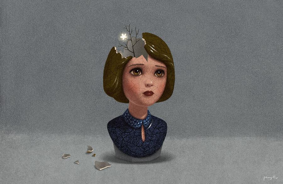 Сюрреалистичные картинки для книг от Юнго Ли