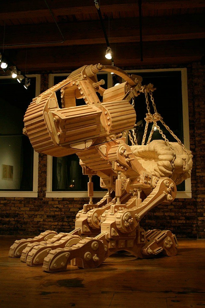 Уникальные деревянные скульптуры от Майкла Ри
