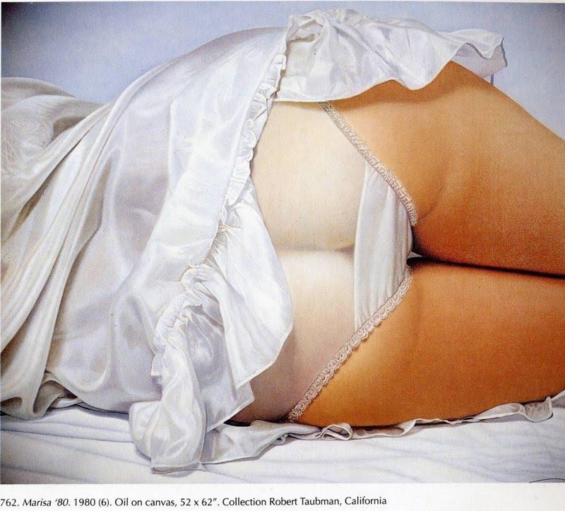 Картины женских бедер в нижнем белье от американского художника Джона Касера