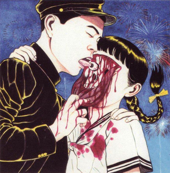 Японский иллюстратор, чьи работы непристойны и запрещены в родной стране