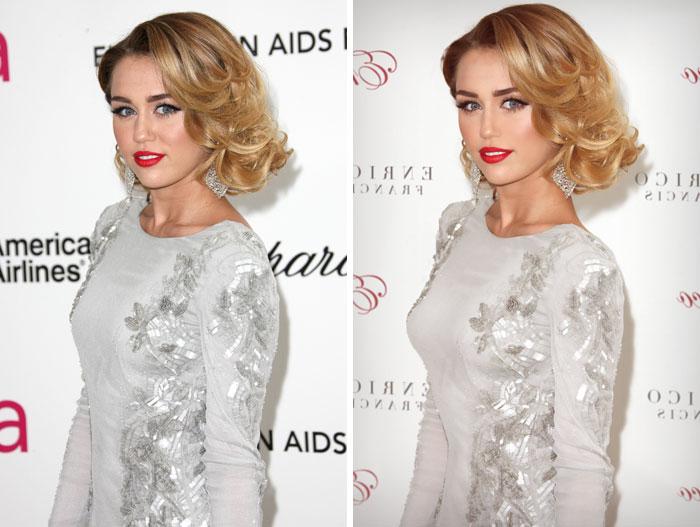 Фотографии знаменитостей до и после фотошопа