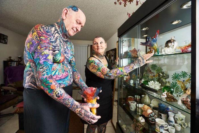 Самые татуированные пенсионеры из Книги рекордов Гиннесса