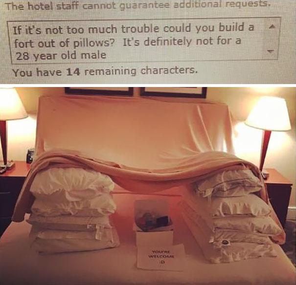 Туристы отправляли в отели странные запросы, а их выполнили