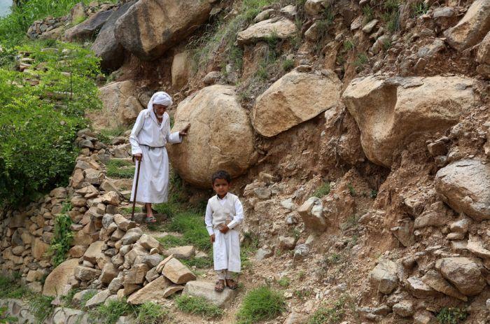 Деревня беженцев в горах Йемена