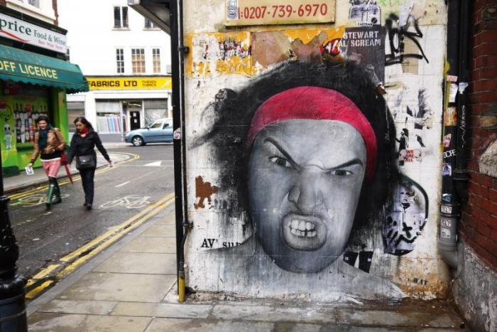 Граффити Лондона как часть городской культуры