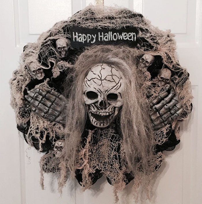 Жутко классные венки на Хэллоуин