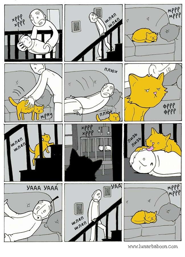 10 комиксов, которые открыли нам правду о кошачьей жизни