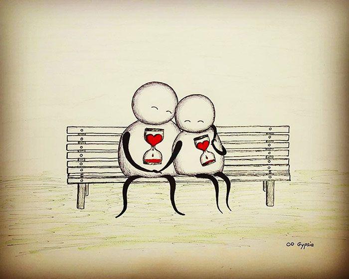 Депрессивные комиксы о любви от Джипси Рейли