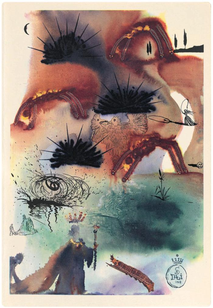 Неизвестные иллюстрации Сальвадора Дали к Приключениям Алисы в Стране чудес