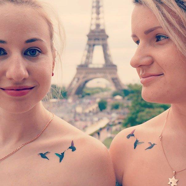Парные татуировки для друзей и близких