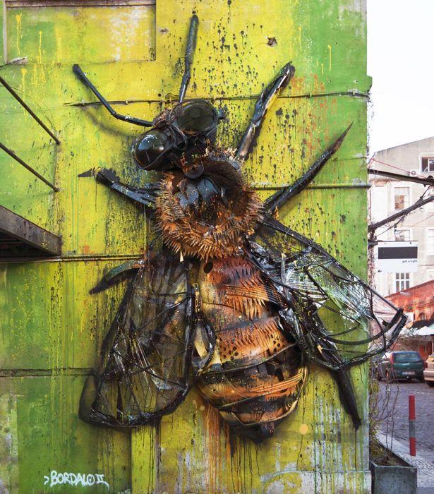 Скульптуры животных из мусора и хлама, напоминающие о загрязнении окружающей среды