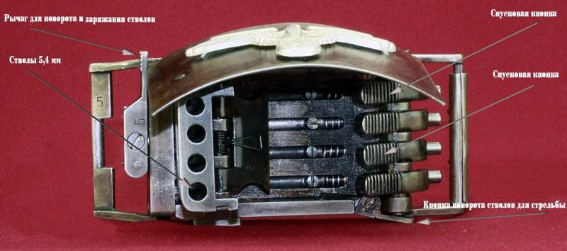 Пистолеты нацистов, встроенные в пряжку ремня